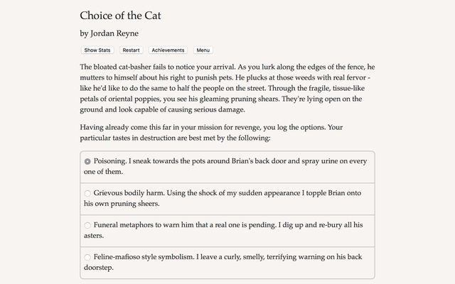 games similar to Choice of the Cat