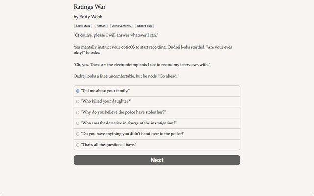 games similar to Ratings War