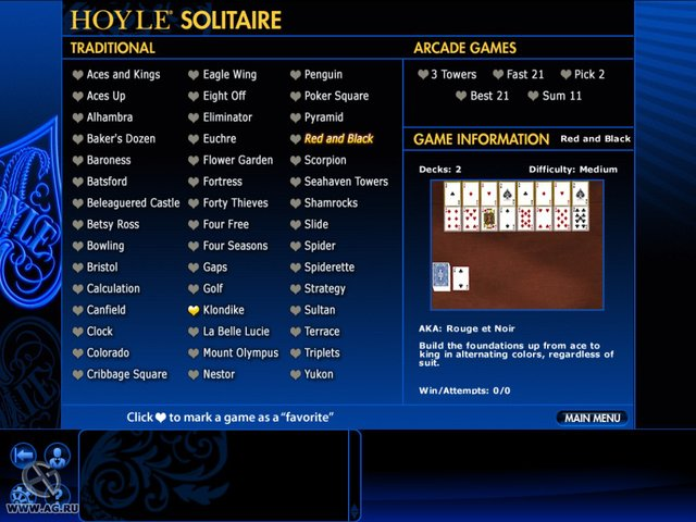 games similar to Hoyle Card Games 2011