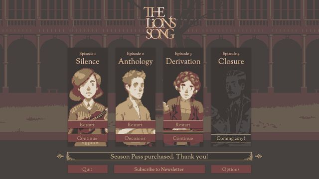 games similar to The Lion's Song: Episode 1   Silence