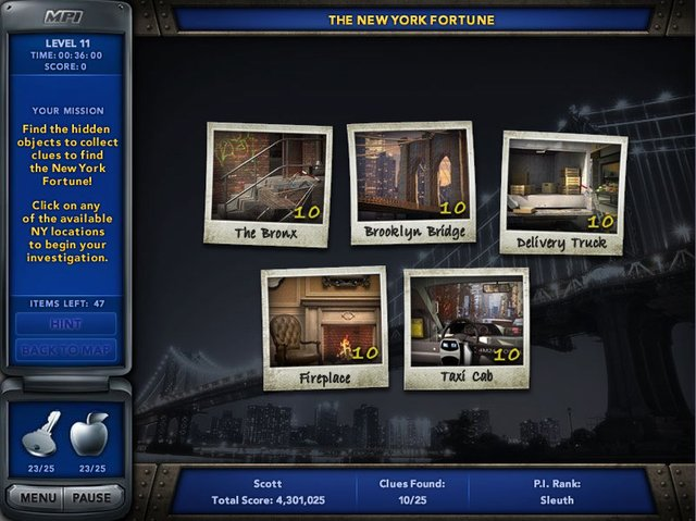 games similar to Mystery P.I.   The New York Fortune
