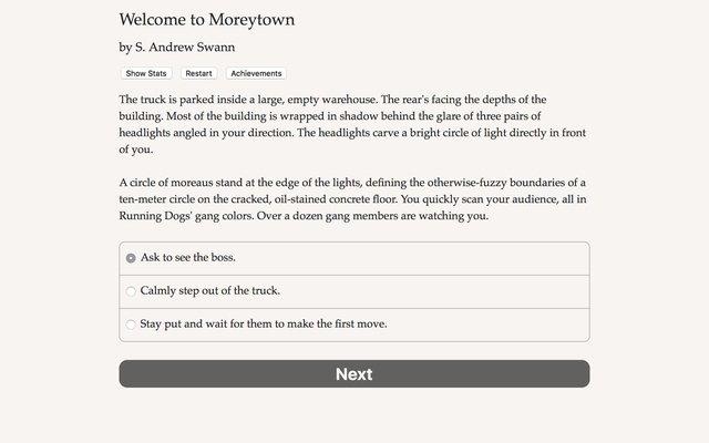 games similar to Welcome to Moreytown
