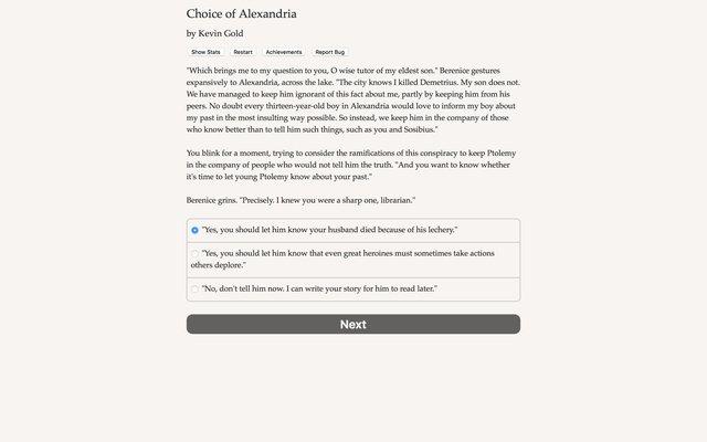 games similar to Choice of Alexandria
